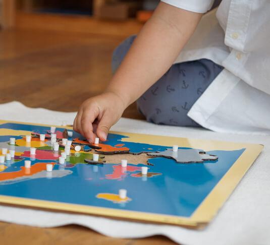 Domaine sensoriel Montessori